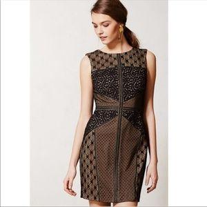 NWT Anthro black lace sheath holiday dress